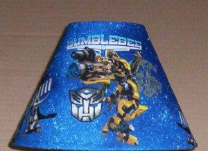 TRANSFORMERS BUMBLEBEE Fabric Lampshade Lamp Shade HASBRO SUPER HERO Handmade 6459
