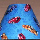 Hot Wheels Fabric Lampshade Lamp Shade Cars Race Racing 6459