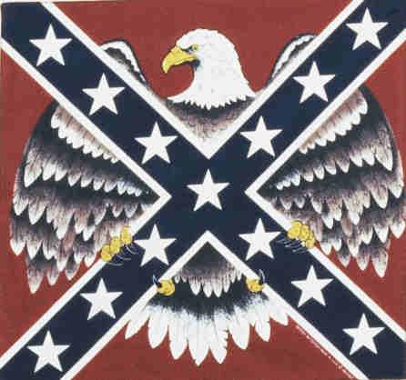 EAGLE REBEL FLAG BANDANA SCARF HANDKERCHIEF......... LAST ONE