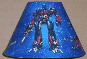 Transformers Optimus Prime Lampshade Fabric lamp shade HASBRO SUPER HERO Handmade 6459