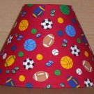 SPORTS LAMP SHADE FABRIC lampshade  Baseball Basketball Football Hockey Soccer 6459