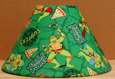 Teenage Mutant Ninja Turtles fabric Lamp Shade Lampshade Michelangelo Pizza 469