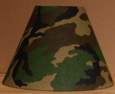 CAMOFLAGE LAMP SHADE FABRIC lamp shade CAMO Desk Table Handmade Army 6459
