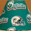 MIAMI DOLPHINS FABRIC LAMP SHADE lampshade NFL FOOTBALL SPORTS Handmade