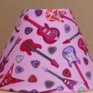Guitar FABRIC LAMP SHADE lampshade Purple Red Skull Music Heart Rock Band
