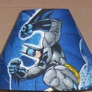Batman fabric Lamp Shade Lampshade CHARACTER SUPER HERO SHADES OF BLUE OOP