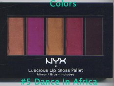 NYX Luscious Lip Palette #5 Dance in Africa