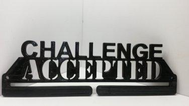 Challenge Accepted Marathon Medal Display Medal Rack Medal Holder Running Medal Hanger