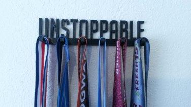 Unstoppable Running Marathon Sports Medal Display Medal Rack Medal Holder Hanger