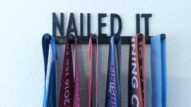 Nailed It Running Marathon Sports Medal Display Medal Rack Medal Holder Medal Hanger