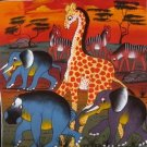 Safari World Oil on Canvas