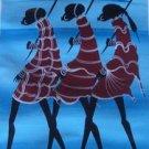 Unique Maasai Oil on Canvas