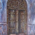 Zanzibar Door Oil on Canvas