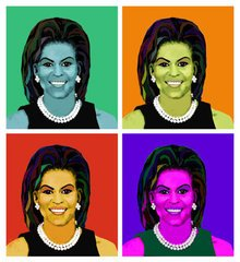 Michelle Obama Giclee on Canvas