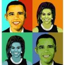 Mr & Mrs Obama Giclee on Canvas
