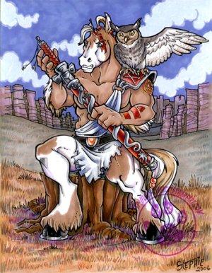 Warrior Horse Print