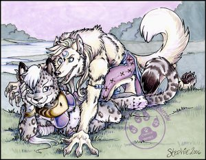 Snow Leopard and Star Wolf Print