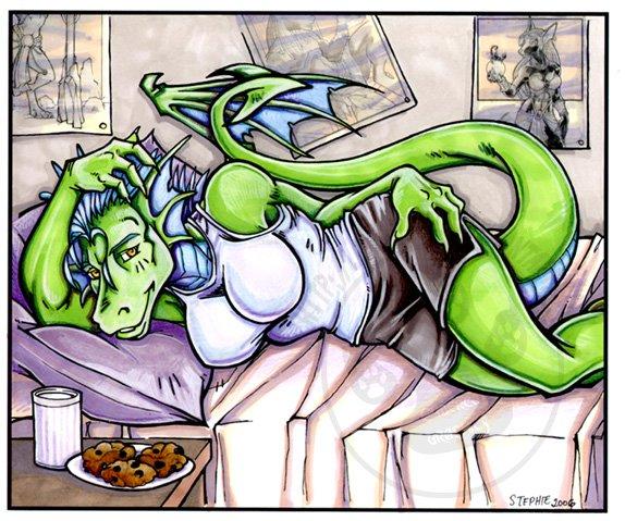 Bedtime Dragon Print