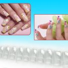 100 Clear French Acrylic False Artificial Nail Art Tips