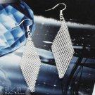 Fashion 925 Sterling Silver Netting Earrings EC091