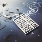 925 Silver Chain Necklace with small abacus NA433