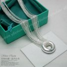 925 sterling silver Tassels Shape 'O' Necklace NA027