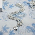Special 925 Sterling Silver Chain Heart Necklace NA632