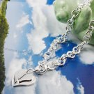 925 sterling silver Necklace with double hearts NA012