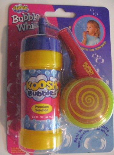 Koosh bubble whistle toy