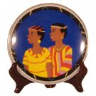 African Art Couple Dish