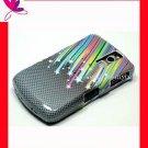 Case Cover Blackberry Curve 8300 8310 8320 8330 ~CARBON STAR