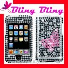 BLING Case Cover Apple ipod touch 2nd 3rd ~ DIAMOND BUTTERFLY