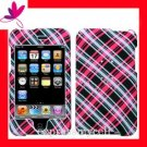 Hard Case Cover for  APPLE ipod Touch 2nd 3rd Generation ~ HOT PINK PLAID