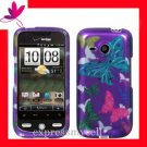Hard Case Cover HTC Droid Eris 6200 2D PURPLE BUTTERFLY