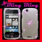 DIAMOND Case Cover Motorola CLIQ MB200 ~  SILVER BLING
