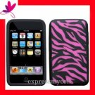 New  GEL Case Cover APPLE ipod Touch 2nd 3rd Generation ~ HOT PINK ZEBRA