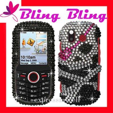 BLING Case Cover Samsung Intensity U450 ~ DIAMOND SKULL