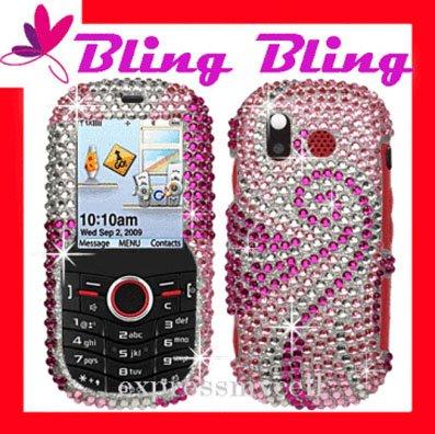 BLING Case Cover Samsung Intensity U450~ DIAMOND SWIVEL