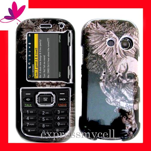Snap On Hard Case Protector Cover for LG LX265 RUMOR 2 Vintage Skull