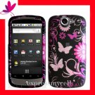NEW Hard Case Cover for HTC GOOGLE NEXUS ONE 1 ~ MIDNIGHT FORAL & BUTTERFLY