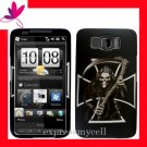 NEW Premium Rubberized Coating Hard Case Cover for HTC HD2  ~  DEATH DEVIL