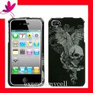 new Premium Hard CASE COVER for APPLE iphone 4 4th Generation 4GS ~ WING SKULL