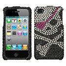 new Premium BLING BLING CASE COVER for APPLE iphone 4 4th Generation 4GS ~ DIAMOND SKULL