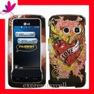 new Premium Hard CASE COVER for Straight Talk LG511C LG 511C 511 ~ LOVE TATTOO