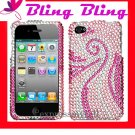 new Premium BLING BLING CASE COVER for APPLE iphone 4 4th Generation ~ DIAMOND PINK SWIVEL