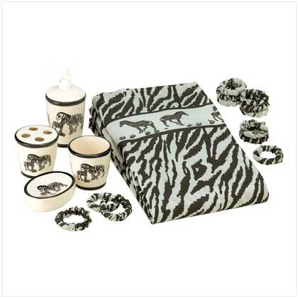 Zebra Bath Set - 6 Pcs