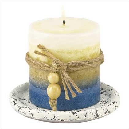 Earth-tone Candle