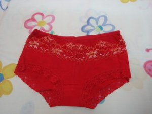 Red Lacy Hipster Knickers