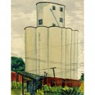 "Grain Elevator I (17.25"" H x 13.25"" W, Standard; Giclee Print of Watercolor Painting)"