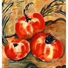 "Tomatoes (14"" H x 13.25"" W, Medium; Giclee Print of Watercolor Painting)"